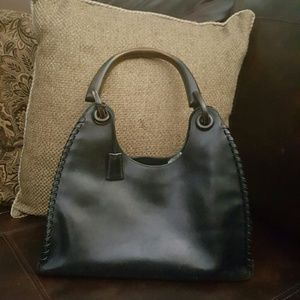 Black Leather with Bamboo Handle Gucci